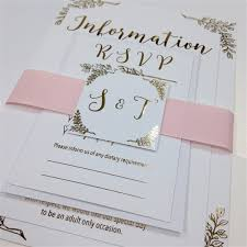 foil wedding invitations blush pink and gold foil wedding invitations on luxury 350gsm silk