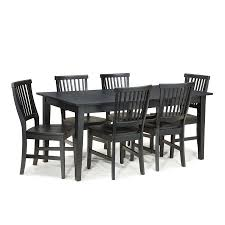 Black And Cherry Wood Dining Chairs Shop Home Styles Arts U0026 Crafts Ebony Dining Set With Rectangular