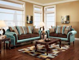 Brown Bonded Leather Sofa Fa7610 Mulligan Teal And Dark Brown Fabric Bonded Leather Sofa