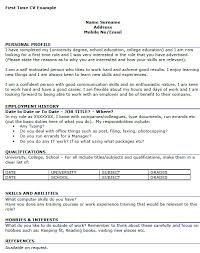 Good Job Titles For Resumes by First Job Resume Writing