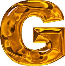 presentation alphabets lumpy gold letter g