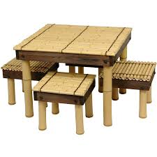 zen bamboo coffee table w four stools orientalfurniture com find this pin and more on home furniture by 5p1tf1r3