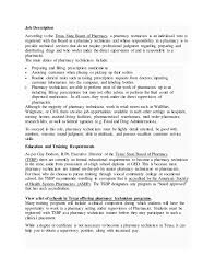 Pharmacy Technician Job Description For Resume by Pharmacy Technician Information Booklet