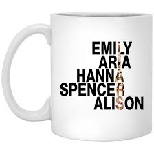 pretty little liars emily aria hanna spencer alison mugs ifrogtees