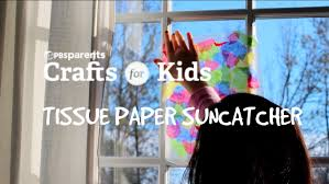 tissue paper suncatcher crafts for kids pbs parents youtube
