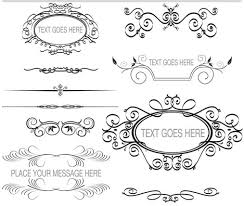 ornament borders elements 7 ai format free vector