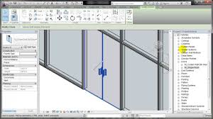 glass wall door systems revit placing a door in a curtain wall youtube