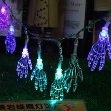 colorful 10 led halloween skull head string lights decorated