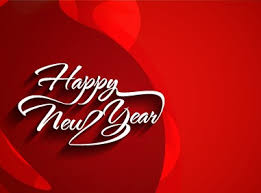 happy new year backdrop happy new year text with background vector 02 vector
