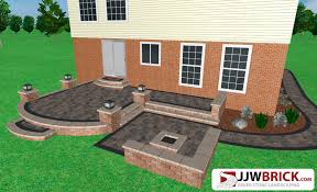 Brick Paver Patio Installation Landscaping Paver Patio Design U0026 Installation Macomb Mi 48044