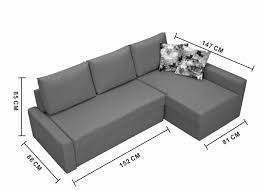 Sofa Bed Dimensions Small Corner Sofa Bed With Storage Nrtradiant Com