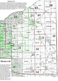 Ohio City Map Area 54 District Boundaries