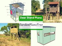 2 Person Deer Blind Plans 5 Free Deer Stand Plans Free Garden Plans How To Build Garden