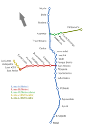 Lyon Metro Map by Medellin Metro Map The Gondola Project