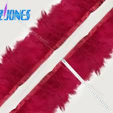 burgundy ribbon hot sale 2yards unique dyed burgundy tureky marabou feather ribbon