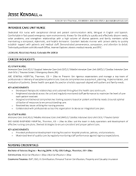 Good Nursing Resume Nurse Resume Template Manager Resumes Emergency Room Examples