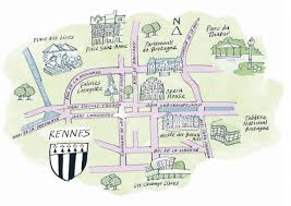rennes map 48 hours in rennes discover