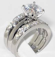 solitare ring 3 37 ct cz solitaire bridal engagement wedding 3 ring
