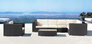 Modern Metal Outdoor Furniture Zuo Modern Cartagena Table In Chocolate 701001