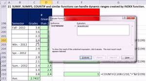 Countif Sumif Minif Ctrl Shift Enter Excel Array Formulas 13 Dynamic Ranges