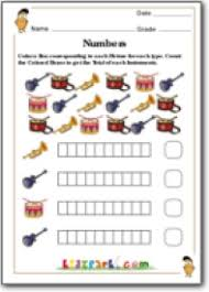 count and color worksheet for class 1 cbse pattern worksheets