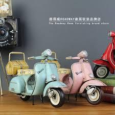 usd 22 70 vespa piaggio motorcycle model handmade metal tin zakka