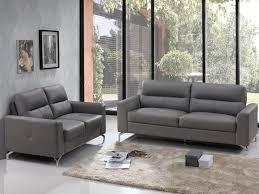 canapé 3 2 cuir canapé 3 2 places en cuir de buffle edori gris canapé