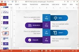 business powerpoint template with violet color palette by slidemodel