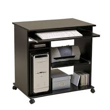 Schmaler Pc Tisch Pc Tisch Schwarz Mit Schreibtisch Auf Der Mobel Und Dekoration