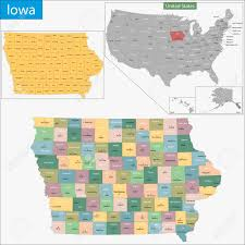 Iowa State Campus Map Map Of Iowa State Designed In Illustration With The Counties