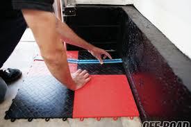 1106 05 snaplock industries racedeck flooring install checkered