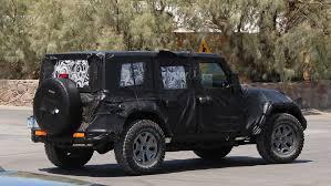 jeep truck 2018 spy photos next gen jeep wrangler production to begin in november