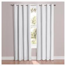 Gray And White Blackout Curtains Cassidy Blackout Curtain White Eclipse Target