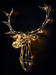 92 ideas stag with 31x 23cm glitter stag