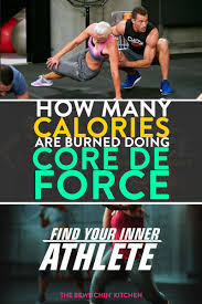 calories burned doing core de force the bewitchin u0027 kitchen