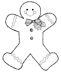gingerbread man outline free download clip art free clip art