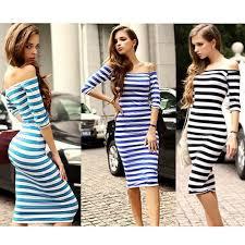 women autum casual dress long sleeve striped maxi dress