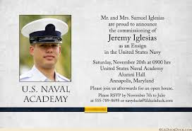 academy graduation invitations anchor navy ensign commissioning invitations photo yellow