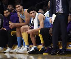 basketball player on bench why the lakers won t bench the struggling lonzo ball