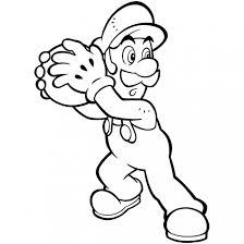 Coloriage Luigi Basketteur dessin gratuit à imprimer