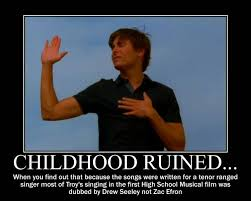 Zac Efron Meme - childhood ruined meme zac efron was dubbed over by shannon cassul