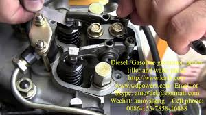 diesel generator valve adjustment form amoysheng 2 youtube