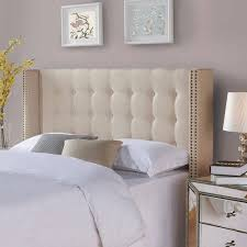King Tufted Headboard Better Homes And Gardens Wingback Tufted Upholstered Headboard