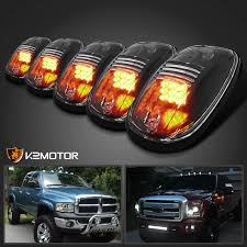5x roof top cab clear lights 9 led marker ls w wiring