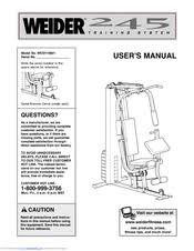 Weider 215 Bench Weider 245 Manuals