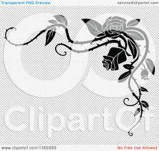 halloween corners transparent background clipart of a black and white corner floral rose vine border design