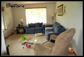 arranging furniture in small living room with french doors