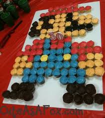 mario cake easy mario birthday cake using cupcakes thepartyanimal