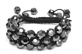 shamballa bead bracelet images Charlotte 39 s web shamballa kit jet hematite jpg