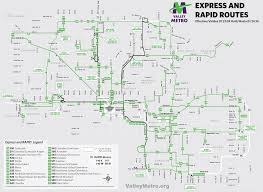 Light Rail Phoenix Map by Phoenix Metro Light Rail Map Subway U2022 Mapsof Net